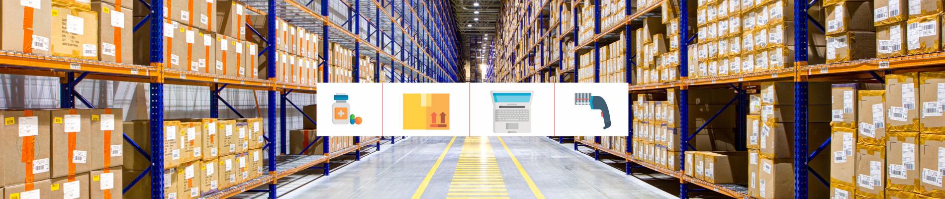 imagem de estoque de distribuidores de materiais e medicamentos
